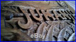 Jumanji Carving Board Game Carved Wood Prop Replica Wall Plaque Engraved CUSTOM