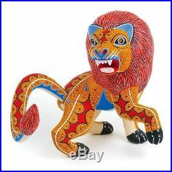 LION Oaxacan Alebrije Wood Carving Fine Mexican Folk Art Sculpture