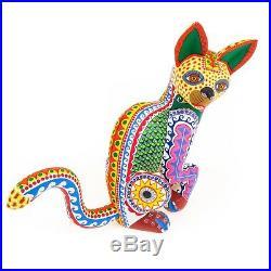 LOVELY CAT Oaxacan Alebrije Wood Carving Fine Mexican Folk Art Sculpture