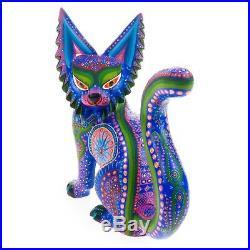 LYNX CAT Oaxacan Alebrije Wood Carving Mexican Folk Art Sculpture
