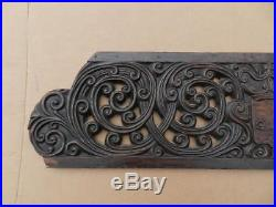 Large Antique Hand Carved Wood SculpturePedimentArchitectural Trim Salvage