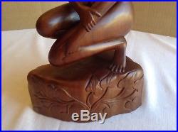 Large K. T. Nardita MAS BALI Nude Women Wood Sculpture / Carving