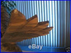 Large Wood Carved Eagle Bird Sculpture Ukraine