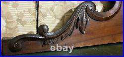 Large scroll leaf crowned carving pediment Antique french architectural salvage
