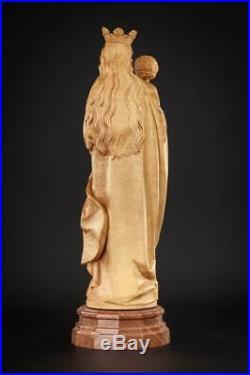 Madonna Child Jesus Sculpture Virgin Mary Christ Statue ANRI Wood Carving 12