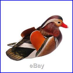 Mandarin Duck Original Wood Sculpture Statuette Hand Carved NOVICA Bali