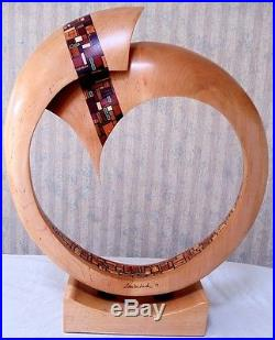 Maple Spalted Oak Wood Sculpture Art Carving Created by Craig Lauterbach