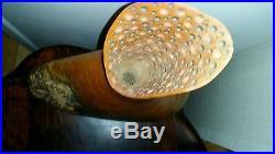 Maple burl vase sculpture center piece wood carving