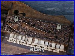 Medieval Hurdy Gurdy with wood carving Sturgeonhurdy gurdy