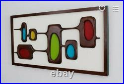 Mid Century Modern Wall Art Carved Wood Wall Sculpture, Witco Style