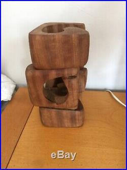 Mid Century Modernist Brian Willsher Carved Wood Sculpture