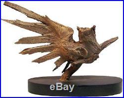 Moon Dance Original Rick Cain Horned Owl Spirit Wood Carving Fine Art Sculpture