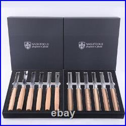 NAGU 50100 Magnolia 12pcs Full Size Professional Wood Carving Tools Set