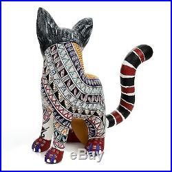 NAHUAL JAGUAR Oaxacan Alebrije Wood Carving Mexican Folk Art Sculpture Painting