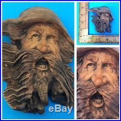 NANCY TUTTLE Tree Spirit Wood Carving Sculpture Artist-Signed Dated 2010