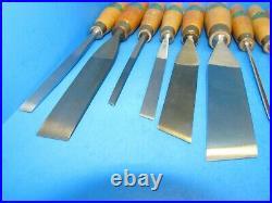 NOS set of 16 Henry Taylor Sheffield England wood carving chisels gouges tools