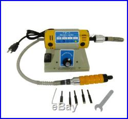 New 110V Electric Chisel Carving Tool Wood Carving Machine With Shaft & 5 Blades