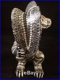 Nocturnal Rabbit Alebrije Oaxacan Wood Carving Folk Art by Sergio Santiago