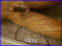 ORIGINAL FOLK ART SHIP FIGUREHEAD Wood CARVED E Unique and beautiful