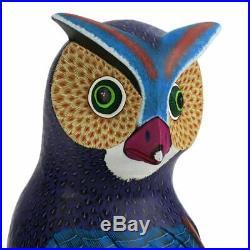 OWL Oaxacan Alebrije Wood Carving Folk Art Sculpture Damian & Beatriz Morales
