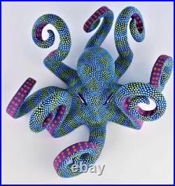 Oaxacan Wood Carving Saul Aragon Octopus Coastal Oaxaca Mexico Folk Art Alebrije