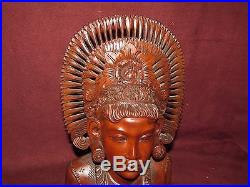 Old or Antique Exotic Tropical Wood Carving Bali Female Sculpture Asian signed