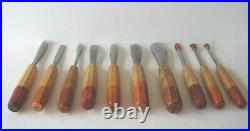 PFEIL Wood Carving Tools Professional Set of 10 Tools, 7 Used and 3 New