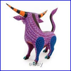 POWERFUL BULL Oaxacan Alebrije Wood Carving Mexican Folk Art Sculpture Painting
