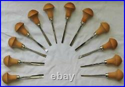 Pfeil Swiss Made Palm Carving Tools Set of 12 With Wood Rack