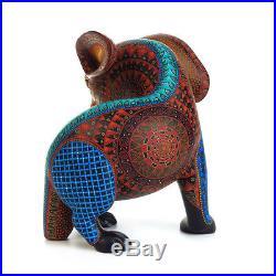 RABBIT Oaxacan Alebrije Wood Carving Handcrafted Fine Mexican Folk Art Sculpture