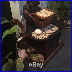 Rare Witco Tiki Fountain Mid Century Carved Wood Tribal Statue Sculpture