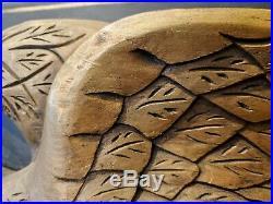 SALE- Antique Eagle Wood Carving- Bellamy- Americana- Black & Gold Sculpture