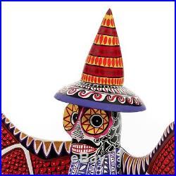 SKELETON BAT Oaxacan Alebrije Wood Carving Mexican Folk Art Sculpture Painting