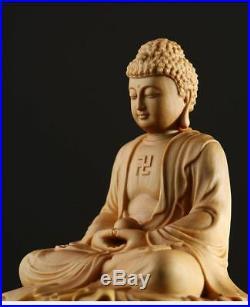 Sakyamuni Buddha Japan Statue Pure Wood Carving Sculpture For Home Decor Estatua