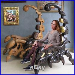 Scorpion Chair exclusive furniture Wood Carved 3D Art sculpture statue figure