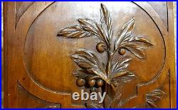 Scroll leaf fruit berry wood carving panel Antique french architectural salvage