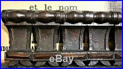 Set 7 victorian wood carving corbel bracket Antique french architectural salvage
