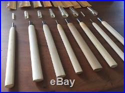 Set of 8 Small Japanese Wood Carving Tools / Gouges Sculpture, Woodblock Print