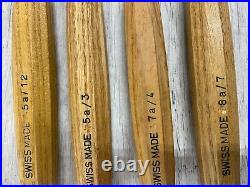 Set of Pfeil Swiss Made Wood Carving Tools lot 0f 4 gouges Sizes 5a12 5a3 7a4 8a