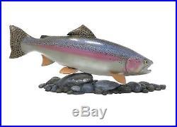 Steelhead Trout Wood Carving Flyfishing Art Sculpture