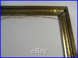 Stunning Large Wide Antique Wood Carved Carving Frame For A Painting Art Deco