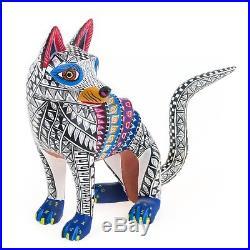 THIN DOG Oaxacan Alebrije Wood Carving Fine Mexican Folk Art Sculpture