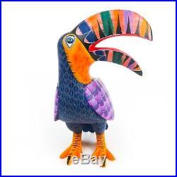 TOUCAN BIRD Oaxacan Alebrije Wood Carving Fine Mexican Folk Art Sculpture