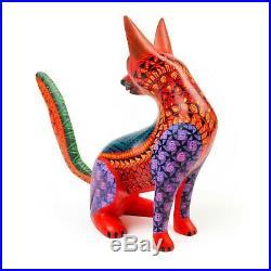 TURNING FOX Oaxacan Alebrije Animal Wood Carving Mexican Folk Art Sculpture