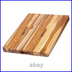 TeakHaus by Proteak Edge Grain Carving Board withHand Grip (Rectangle) 20 x