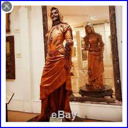 The Double Statue of Mephistopheles MargarettaWOOD CARVED BUST SCULPTURE