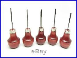 U J Ramelson 15 Beginners Micro Wood Carving Tools Palm Handles Made in USA