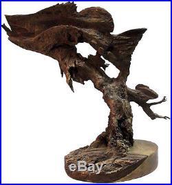 Under World Original Bass Perch Fish Water Wood Carving Sculpture Rick Cain
