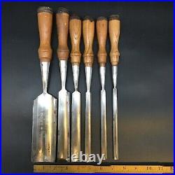 VINTAGE SET 6 GREENLEE Wood GOUGES Chisels Carving Nice