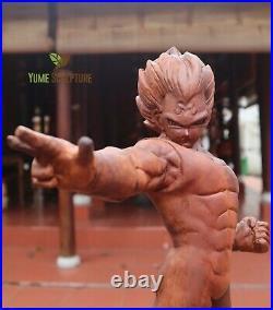 Vegeta Anime Dragon Ball Akira Toriyama Saiyan Statue Sculpture Wooden Carving